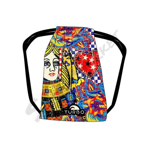 Turbo Mesh Bag Queen Heart Vintage
